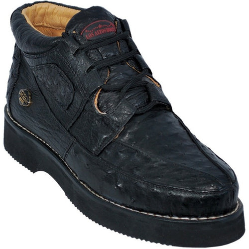 Los Altos Boots_Men's Casual Full Ostrich Shoes