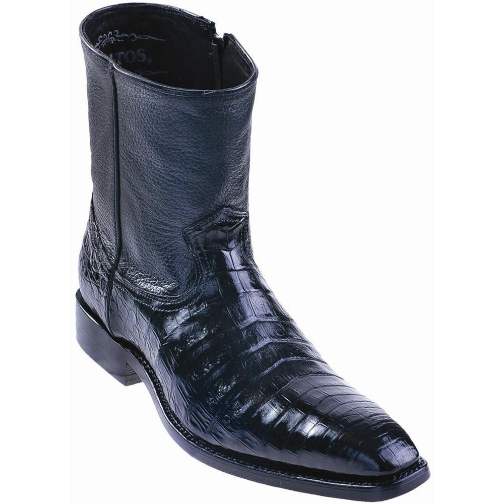 Caiman Belly Dress Boots Genuine Exotic Skin Los Altos