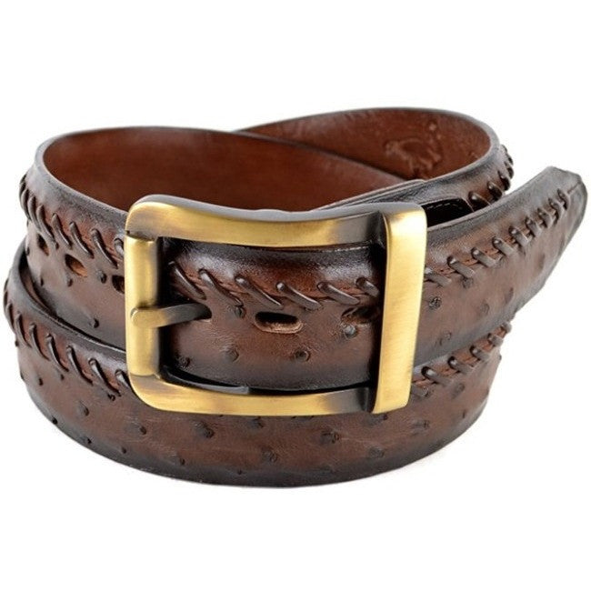 Men/'s King Exotic Genuine Full Quill Ostrich Western Belt Removable Buckle