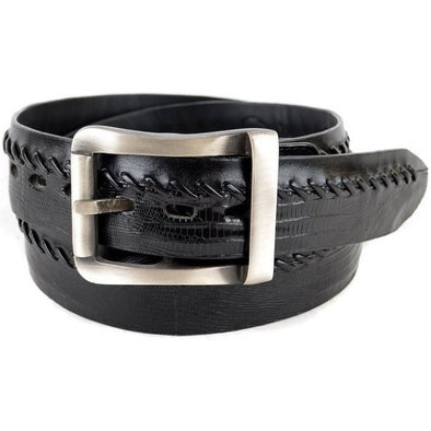 Los Altos Teju Lizard Belt With Removable Buckle/Leather Lining - yeehawcowboy