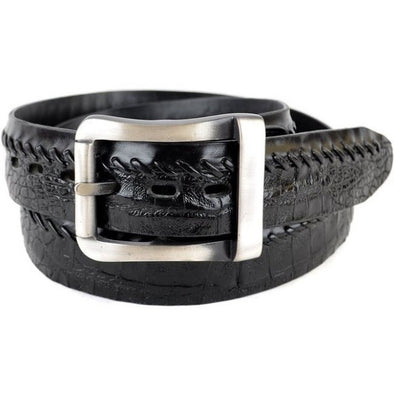 Los Altos Caiman Belly Belt With Removable Buckle/Leather Lining - yeehawcowboy