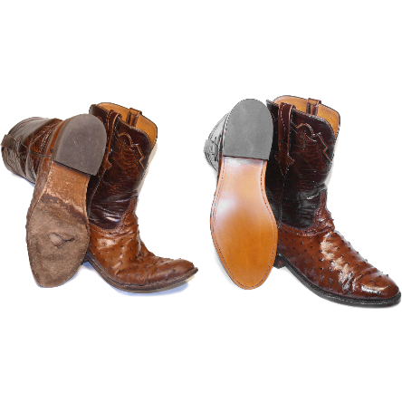 Boot OUTSOLE Repair For Leather And Exotic Western Boots Shipping Included - yeehawcowboy