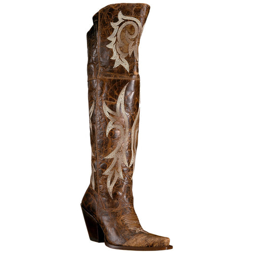 Women's Dan Post Jilted Over Knee Boots Snip Toe Handcrafted - yeehawcowboy