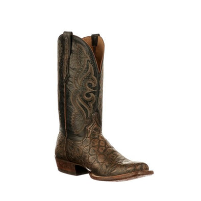 Men's Lucchese Roy Giant Gator Boots Handcrafted Tan - yeehawcowboy