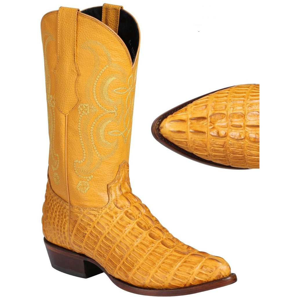 Men S El General Caiman Tail Print Boots Authentic Western