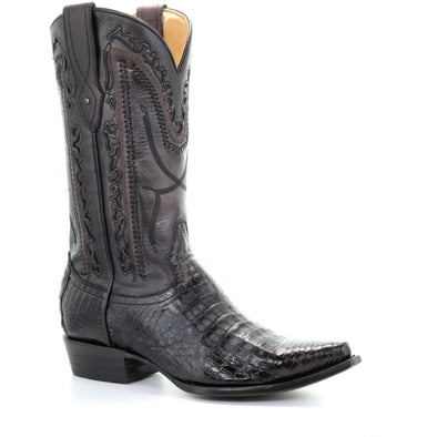 Men's Corral Caiman Boots Handcrafted Grey - yeehawcowboy