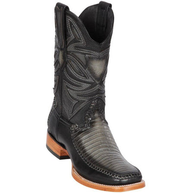 Men's Los Altos Lizard Square Toe Boots Handcrafted - yeehawcowboy