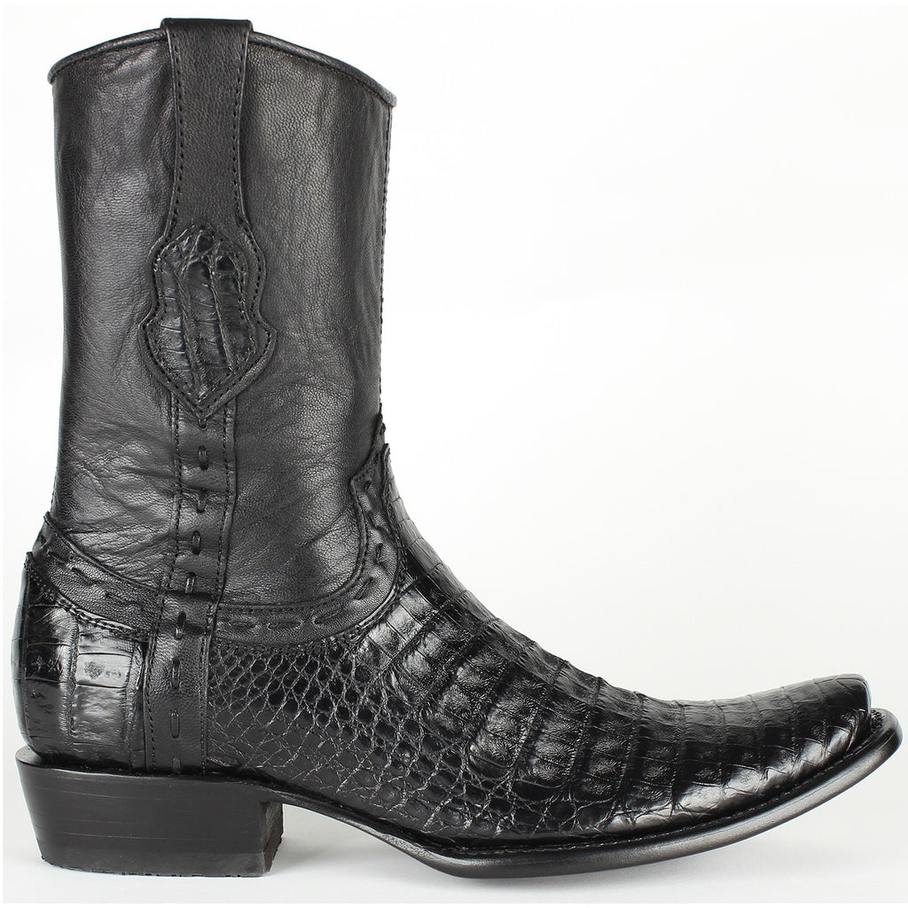 Best King Exotic Fuscus Caiman Belly Boots With Zipper