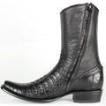 Men's King Exotic Fuscus Caiman Belly Boots With Inside Zipper - yeehawcowboy