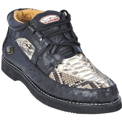 Men's Los Altos Python and Ostrich Casual Shoes - yeehawcowboy