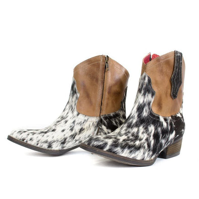 Women's Alcalas Johnny Cow Hair Boots Handcrafted - yeehawcowboy