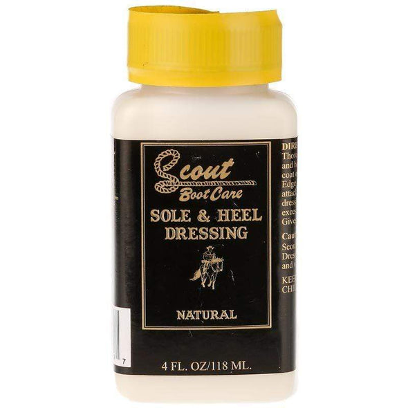 Scout Sole, Heel and Edge Dressing For Boots and shoes  4 oz. - yeehawcowboy