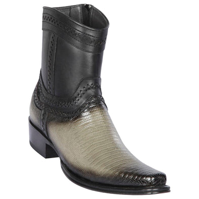 Men's Los Altos Teju Lizard Boots European Square Toe Handcrafted - yeehawcowboy