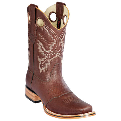 Men's Los Altos Square Toe Boots With Saddle Vamp Handmade - yeehawcowboy