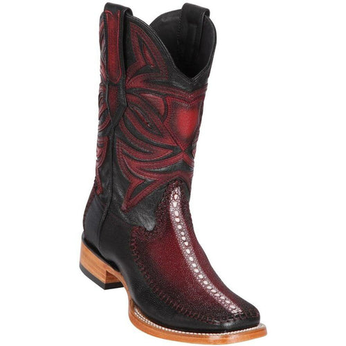 Men's Los Altos Stingray Full Rowstone Square Toe Boots Handcrafted - yeehawcowboy
