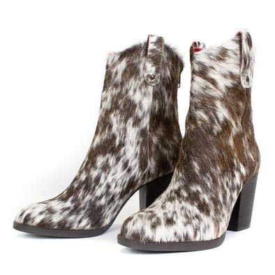 Women's Alcalas George Cow Hair Boots Handcrafted - yeehawcowboy