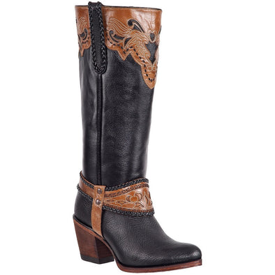 Women's Quincy Knee High Boots Round Toe Handcrafted - yeehawcowboy