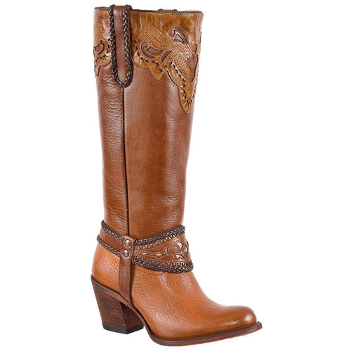 Women's PR Knee High Boots Round Toe Handcrafted - yeehawcowboy