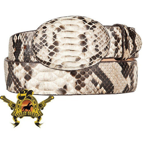 King Exotic Python Belt With Removable Buckle Natural - yeehawcowboy