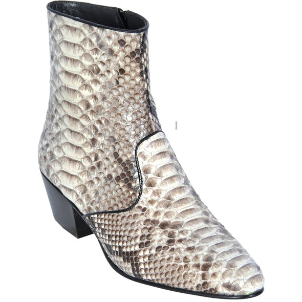 Mens Python Snakeskin Short Ankle Los Altos Boots - yeehawcowboy