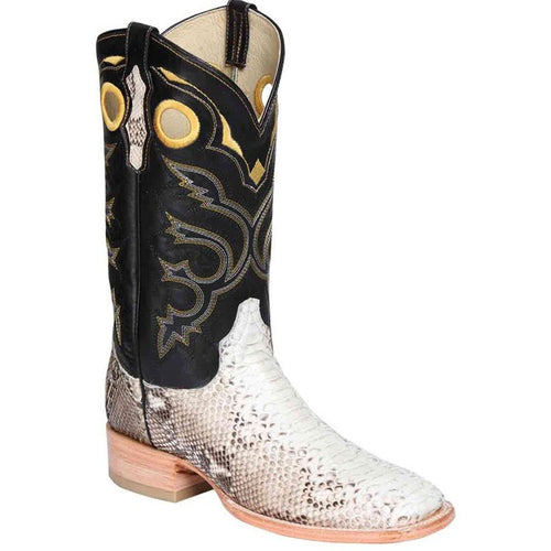 Men's El General Python Square Toe Boots Handcrafted - yeehawcowboy