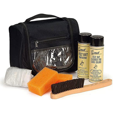 Scout Felt Hat Care Cleaner Travel Kit For Light & Dark Color Felt Hats - yeehawcowboy