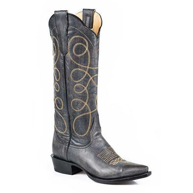 Women's Stetson Abigail Knee High Boots Snip Toe Handcrafted - yeehawcowboy