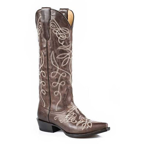 Women's Stetson Adeline Knee High Boots Snip Toe Handcrafted - yeehawcowboy