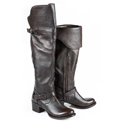 Women's Stetson Bianca Over The Knee Boots Round Toe Handcrafted - yeehawcowboy