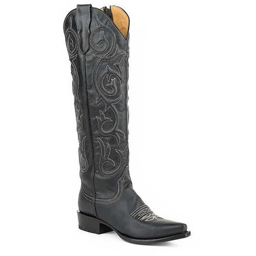 Women's Stetson Blair Knee High Boots Snip Toe Handcrafted - yeehawcowboy