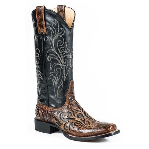 Women's Stetson Caroline Boots Square Toe Handcrafted - yeehawcowboy