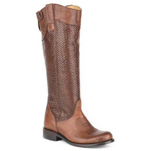 Women's Stetson Chelsea Knee High Boots Round Toe Handcrafted - yeehawcowboy