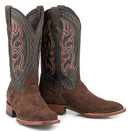 Men's Stetson Butte Genuine Hippo Boots Square Toe Handcrafted JBS Collection - yeehawcowboy