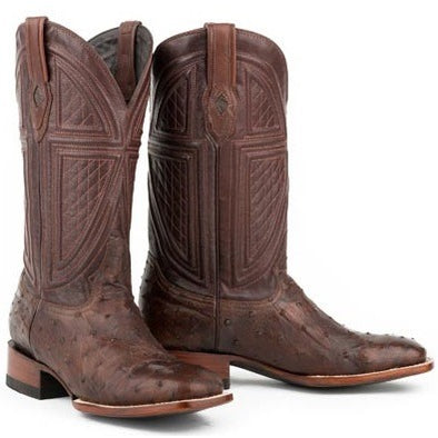 Men's Stetson Jackson Ostrich Boots Square Toe Handcrafted JBS Collection - yeehawcowboy