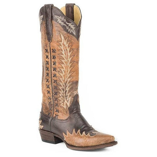 Women's Stetson Morgan Knee High Boots Snip Toe Handcrafted - yeehawcowboy