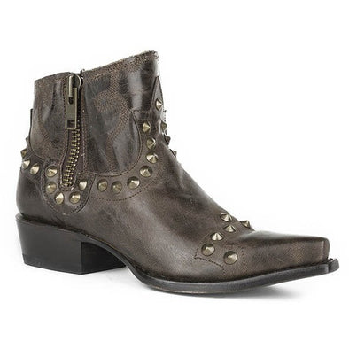 Women's Stetson Shelby Ankle Boots Snip Toe Handcrafted - yeehawcowboy