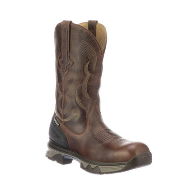 "Men's Lucchese Performance Molded 12"" Pull On Work Boot Composite Toe Hickory - yeehawcowboy"