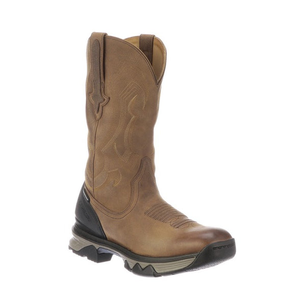 "Men's Lucchese Performance Molded 12"" Pull On Work Boot Soft Toe Acorn - yeehawcowboy"