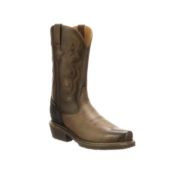 "Men's Lucchese Welted Western 12"" Work Boot Steel Toe Stone - yeehawcowboy"