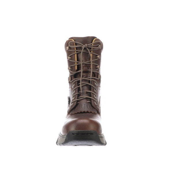 "Men's Lucchese 8"" Lace Up Work Boot Composite Toe Pecan - yeehawcowboy"