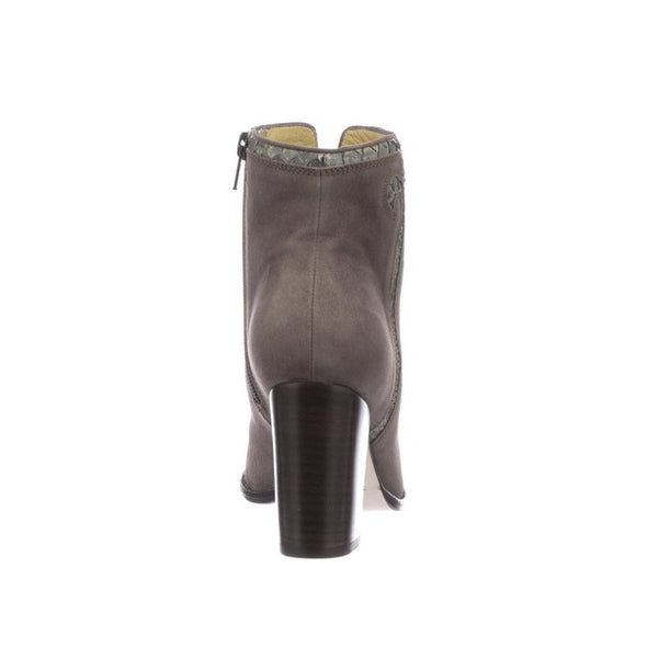 Women's Lucchese Estelle Leather Ankle Boots Handcrafted Light Grey - yeehawcowboy