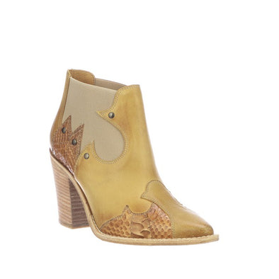 Women's Lucchese Stacy Leather Ankle Boots Handcrafted Tan - yeehawcowboy