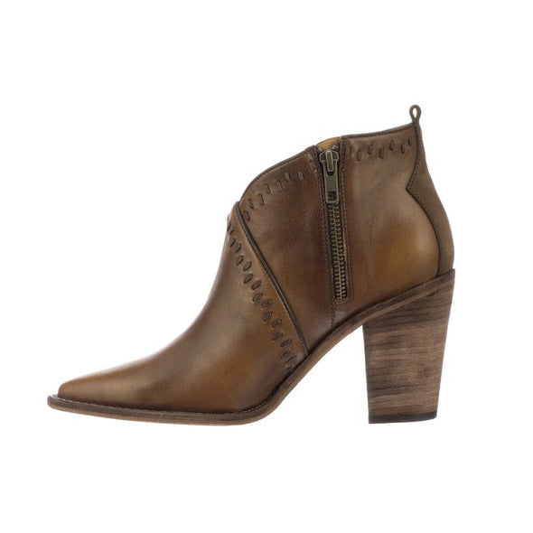 Women's Lucchese Anita Leather Ankle Boots Handcrafted Mocha - yeehawcowboy