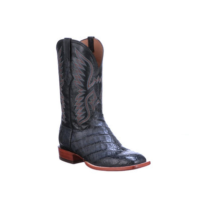 Men's Lucchese Bryan Exotic Giant Caiman Boots Handcrafted Denim - yeehawcowboy