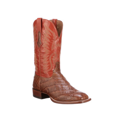 Men's Lucchese Bryan Exotic Giant Caiman Boots Handcrafted Cognac - yeehawcowboy