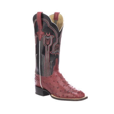 Women's Lucchese Maggie ostrich Boots Handcrafted Plum - yeehawcowboy