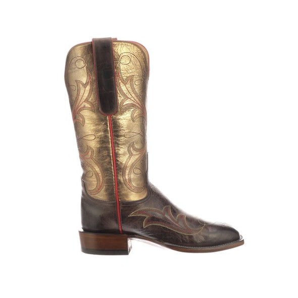 Women's Lucchese Taryn Goat Boots Handcrafted Chocolate - yeehawcowboy