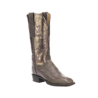 Women's Lucchese Taryn Goat Boots Handcrafted Anthracite Grey - yeehawcowboy