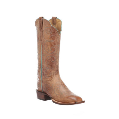 Women's Lucchese Emmalyn Goat Boots Handcrafted Tan - yeehawcowboy