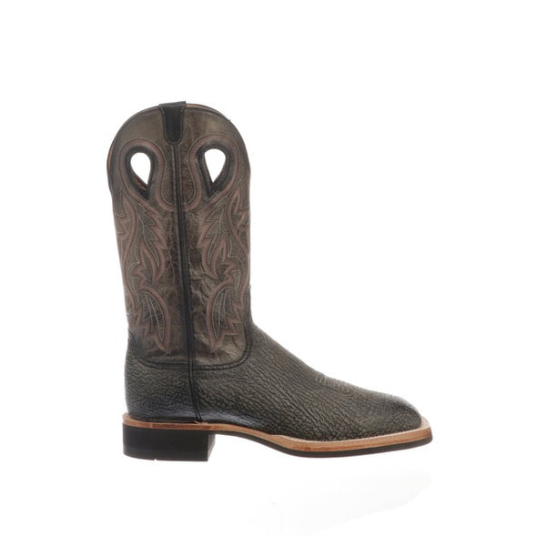 Men's Lucchese Adams Shark Boots Handcrafted Black - yeehawcowboy